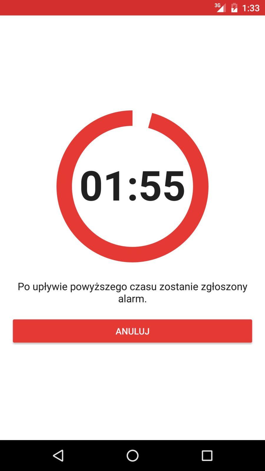 aplikacja mobilna MySolid wezwanie pomocy