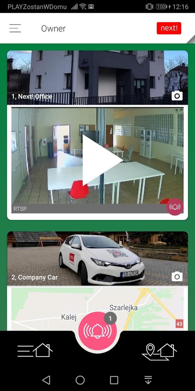aplikacja mobilna mClient liata obiektów